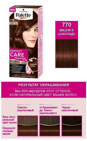 Schwarzkopf Professional, Краска дл волос Palette Perfect Care, 110 мл (25 оттенков) 770 Вишн в шоколадеОкрашивание Palette, Perfect Mousse, Brilliance, Color Mask, Million Color, Nectra Color, Men Perfect<br><br>