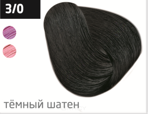 Купить OLLIN Professional, Перманентная крем-краска Ollin color 100 мл (96 оттенков) 3/0 темный шатен