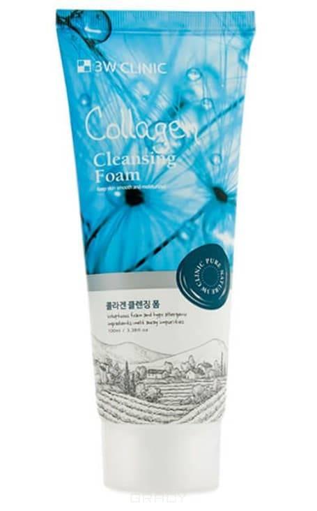 Купить 3W Clinic, Пенка для умывания с коллагеном Collagen Foam Cleansing, 100 мл