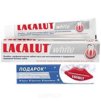 Lacalut, Набор Зубная паста white 75 мл + выдавливатель для зубной пасты в ПОДАРОКЗубные пасты Лакалют<br><br>