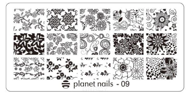 цена на Planet Nails, Пластина для Stamping Nail Art (15 видов) Пластина для Stamping Nail Art - 09