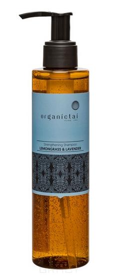 Купить Organic Tai, Безсульфатный шампунь для волос с лемонграссом и лавандой Strengthening Shampoo Lemongrass & Lavender, 200 мл