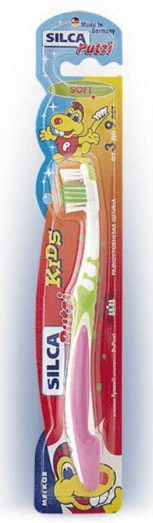 Зубная щетка детская Putzi Kids (3-9 лет) аквафреш щетка зубная детская kids 3 6 лет