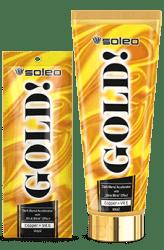 Soleo, Крем с инновационным ускорителем загара и содержанием золотых микрочастиц GoldСредства дл загара в солрии<br><br>