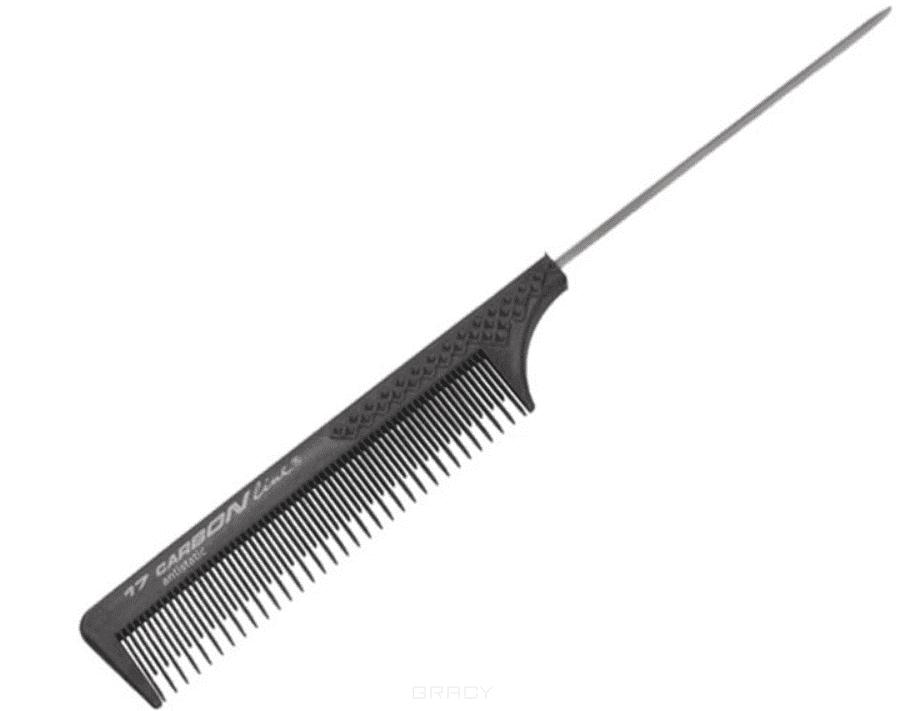 Расчёска карбоновая хвостик для начеса C17 ручка карбоновая калашников