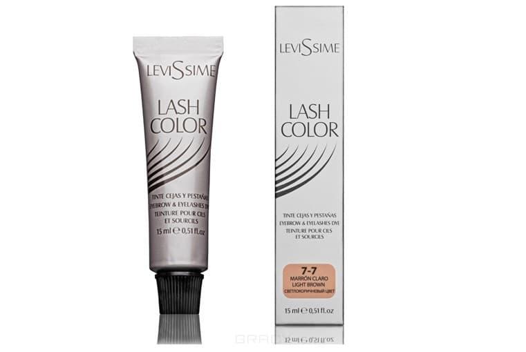 Levissime, Краска для бровей и ресниц Левисим Lash Color, 15 мл (5 цветов, Новый дизайн!), 15 мл. Светло-коричневый