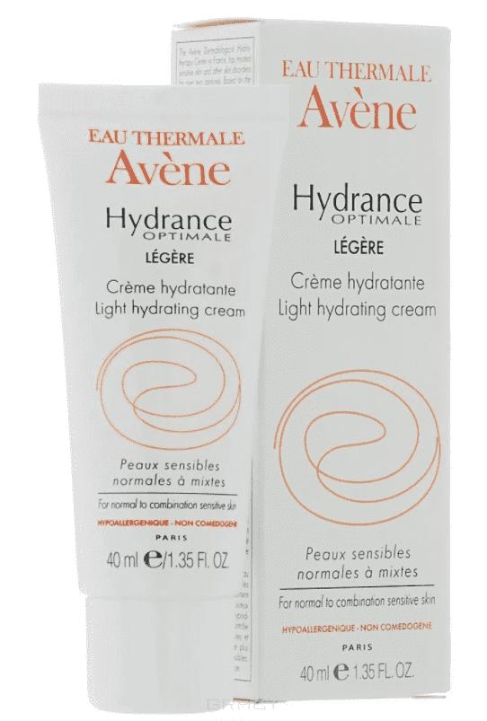 Avene, Увлажняющий крем для нормальной и смешанной кожи Лежер Hydrance, 40 мл набор увлажняющий крем гидранс оптималь лежер 40 мл флюид для снятия макияжа 3 в 1 100 мл avene hydrance