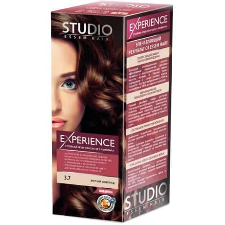 Studio, Краска для волос experience (8 оттенков), 40/60/15 мл 3.7 Жгучий шоколад