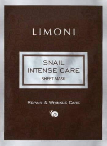 Купить Limoni, Интенсивная тканевая маска для лица с экстрактом муцина улитки Snail Intense Care Sheet Mask, 18 гр