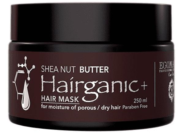 Egomania, Маска с маслом Ши для увлажнения пористых, сухих волос HAIRGANIC+ SHEA NUT BUTTER MASK, 250 мл egomania кондиционер с маслом ши для увлажнения пористых сухих волос hairganic 1000 мл