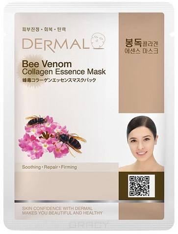 Dermal, Тканевая маска пчелиный яд и коллаген Bee Venom Collagen Essence Mask, 23 мл