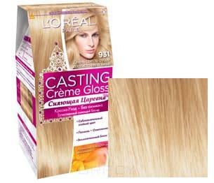 LOreal, Краска для волос Casting Creme Gloss (37 оттенков), 254 мл 931 Очень светло-русый золотистый пепельнвйОкрашивание<br><br>