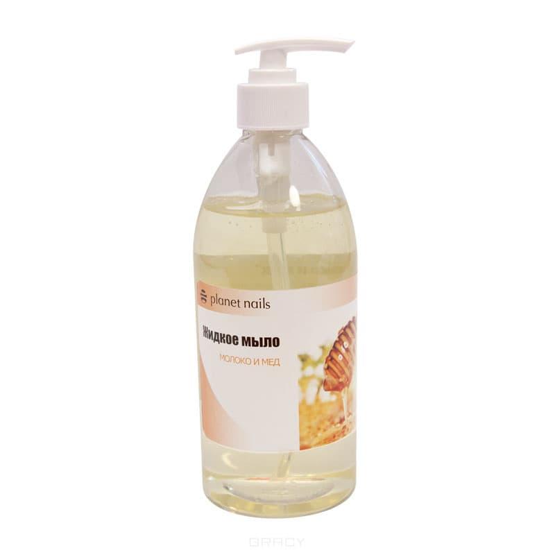 Planet Nails, Жидкое мыло Молоко и мед, 500 млЖидкости для ногтей<br><br>