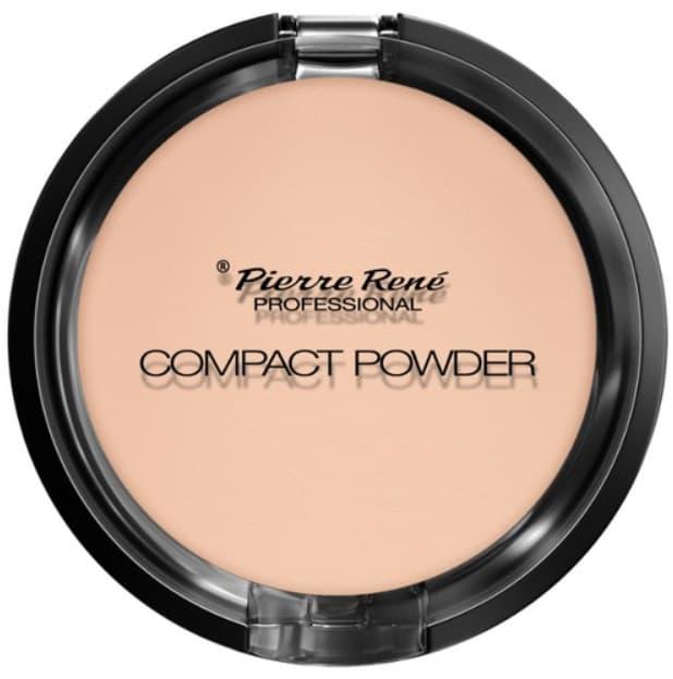 Pierre Rene, Тональная компакт пудра с натуральными маслами для сухой кожи Compact Powder (3 тона), 1 шт, Тон 03 недорого