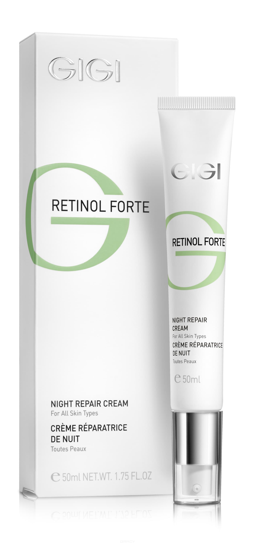 GiGi, Ночной восстанавливающий лифтинг крем Retinol Forte, 50 мл gigi восстанавливающий ночной крем 260 мл