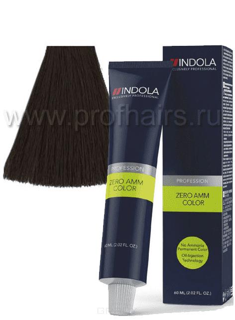 Indola, Zero Amm Стойкий краситель на масляной основе без аммиака, 60 мл (35 оттенков) 5-0 светлый коричневый натуральныйОкрашивание<br><br>