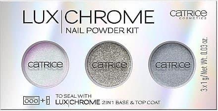 Catrice, Набор пигментов для ногтей LuxChrome Nail Powder Kit (тон 01) фото