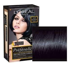 L'Oreal, Краска для волос Preference (27 оттенков), 270 мл 1.0 Неаполь черный l oreal краска для волос preference 27 оттенков 270 мл 7 1 исландия пепельно русый