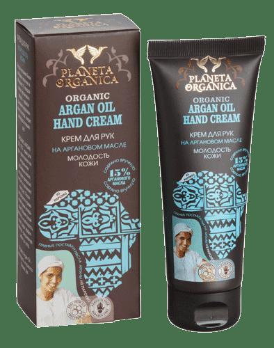 Крем для рук Молодость кожи на Аргановом масле Argan oil, 75 млORGANIC ARGAN OIL 15% — крем для рук, приготовлен на натуральном аргановом масле, которое прекрасно питает и увлажняет кожу рук. После регулярного применения крем возвращает Вашим рукам мягкость и молодость кожи.&#13;<br> &#13;<br> ИНГРЕДИЕНТЫ &#13;<br>Aqua with infusions of Organic Argania Spinosa Kernel Oil (органическое аргановое масло), Origanum Vulgare Leaf Extract (экстракт орегано), Tamarix Chinensis Extract (экстракт тамариска), Cetearyl Alcohol, Glycerin, Tocopheryl Acetate, Sodium Stearoyl Glutamate, Xantan Gum, Citric Acid, Benzyl Alcohol, Benzoic Acid, Sorbic Acid, Parfum.<br>