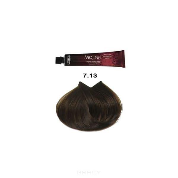 L'Oreal Professionnel, Крем-краска для волос Мажирель Majirel, 50 мл (88 оттенков) 7.13 блондин пепельно-золотистый. l oreal professionnel крем краска мажирель majirel 50 мл 88 оттенков 8 13 светлый блондин пепельно золотистый