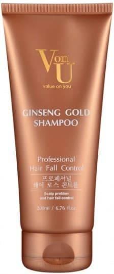 Купить Von U, Шампунь для волос с экстрактом золотого женьшеня Ginseng Gold Shampoo, 200 мл