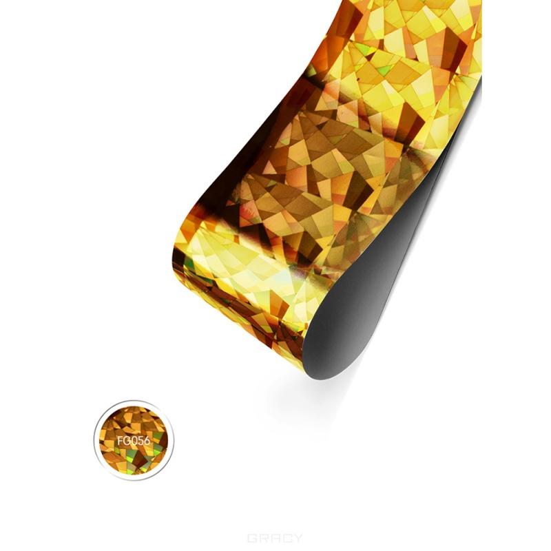Купить E.Mi, Фольга Золотая голографика Кристаллы 1, 5 м