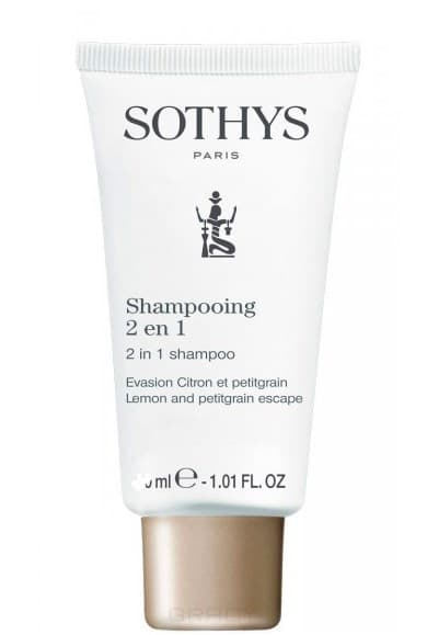 Sothys, Шампунь-кондиционер Лимон и петитгрейн 2 in 1 Shampoo - Lemon & Petitgrain Escape, 75 мл цены