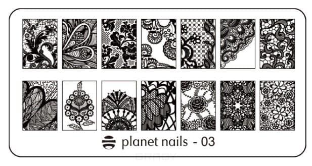 Planet Nails, Пластина для Stamping Nail Art (25 видов) - 03