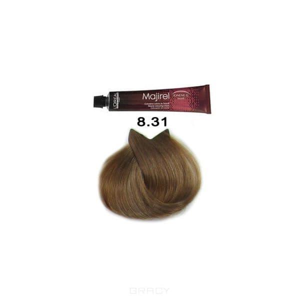 LOreal Professionnel, Крем-краска Мажирель Majirel, 50 мл (88 оттенков) 8.31 светлый блондин золотисто-пепельныйОкрашивание<br><br>