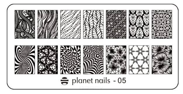 Planet Nails, Пластина для Stamping Nail Art (15 видов) Пластина для Stamping Nail Art - 05 diy желе nail art stamping ясно мягкие силиконовые стампер скребок set