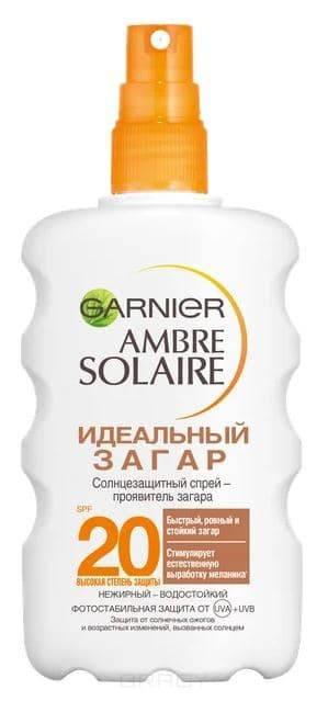 Купить Garnier, Солнцезащитный спрей Идеальный Загар SPF 20, 200 мл