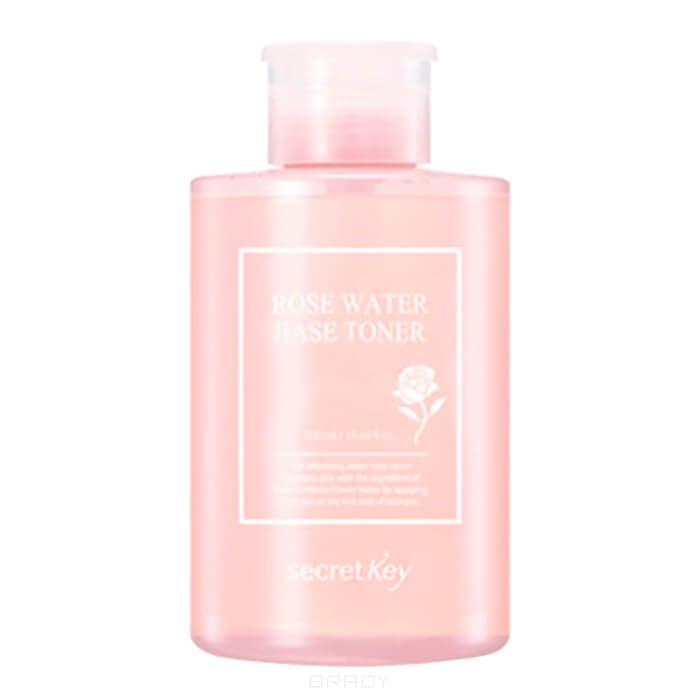 Secret Key, Rose Water Base Toner Тонер для лица с розовой водой, 550 мл тоник secret key rose floral softening toner объем 248 мл