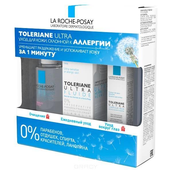 Набор флюид + мицеллярная вода + уход для глаз, 40 мл + 50 мл + 2 мл toleriane ultra fluide