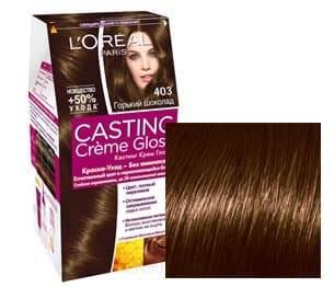 LOreal, Краска для волос Casting Creme Gloss (35 оттенков), 48 мл 403 Шоколадное печеньеGreenism - эко-серия для ухода<br><br>