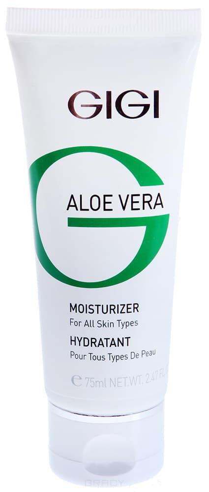 GiGi, Крем увлажняющий Aloe Vera Moisturizer Collagen Elastin, 75 мл gigi крем увлажняющий защитный антивозрастной sun care 75 мл крем увлажняющий защитный антивозрастной sun care 75 мл 75 мл spf30