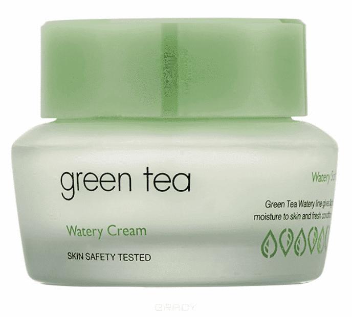 It's Skin, Green Tea Watery Cream Крем для жирной и комбинированной кожи Итс Скин Зеленый чай, 50 мл серый палантин