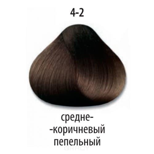 Constant Delight, Краска для волос Констант Делайт Trionfo (палитра 74 цвета), 60 мл 4-2 Средний коричневый пепельный constant delight крем краска delight trionfo 7 42 средний русый бежевый пепельный 60 мл