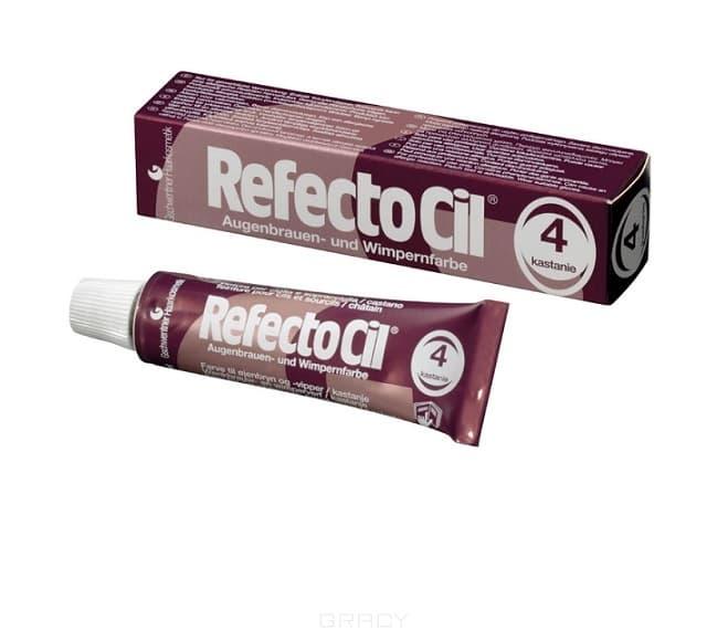 RefectoCil, Краска для бровей и ресниц, 15 мл (10 цветов) №4 Каштан