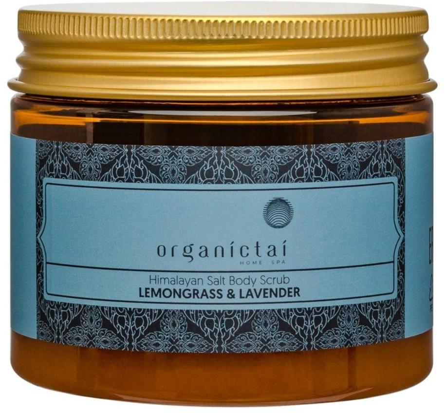 Купить Organic Tai, Скраб для тела на основе гималайской соли с маслами лемонграсса и лавандой Himalayan Salt Body Scrub Lemongrass & Lavender, 200 мл