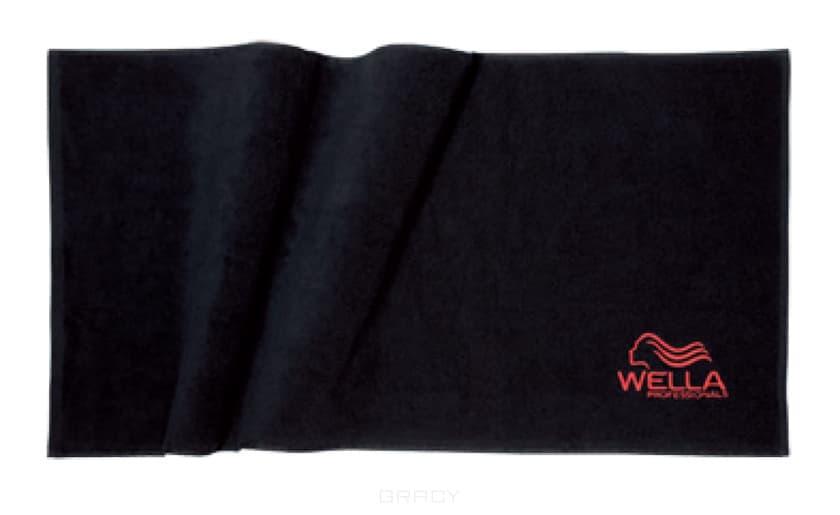 Полотенце черное с вышитым логотипом Wella 50х100 см полотенца luxberry полотенце spa 1 цвет белый льняной 50х100 см