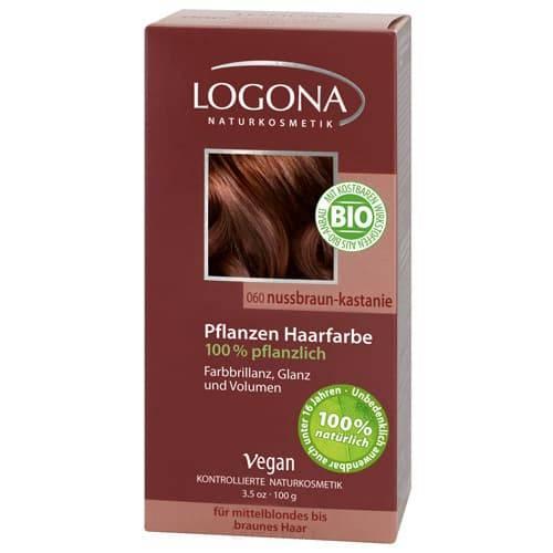 Logona, Растительная краска для волос, 100 г (8 оттенков) 060 Орех красно-коричневый logona powder naturel brown краска растительная для волос тон 080 натурально коричневый 100 г