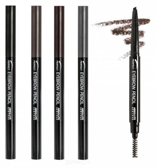Купить Absolute New York, Карандаш для бровей Absolute Eyebrow Pencil (2 тона), 1 шт, Black