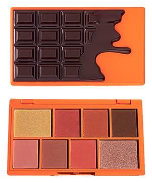 Купить MakeUp Revolution, Палетка теней для век 8 оттенков I Heart Revolution Mini Eyeshadow Palette, 11 гр (2 варианта), Choc Orange