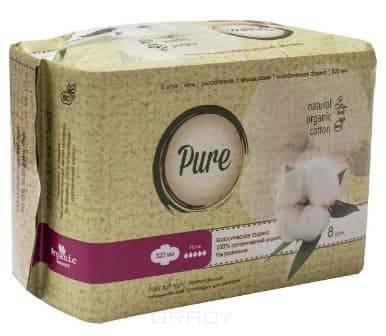 Купить Pure, Прокладки гигиенические женские Soft Night, 32 см, 8 шт