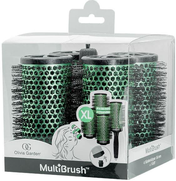 Купить Olivia Garden, Набор брашингов для укладки волос со съемной ручкой в комплекте размер XL MultiBrush, 4 шт/уп