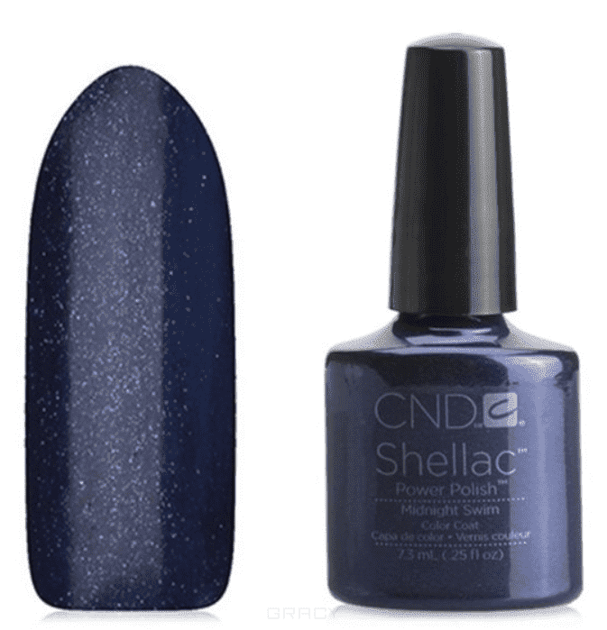 CND (Creative Nail Design), Гель-лак UV Shellac шеллак (58 оттенков) Midnight Swim cnd creative nail design гель лак uv shellac шеллак 56 оттенков lilac longing 7 3 мл