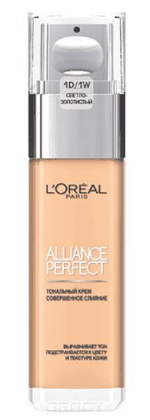 L'Oreal, Тональный крем Alliance Perfect Совершенное слияние (14 оттенков), 30 мл 1D Светло-золотистый callens мини юбка