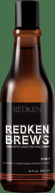 Купить Redken, Шампунь, кондиционер и гель для душа 3 в 1 Brews 3-IN-1, 1 л