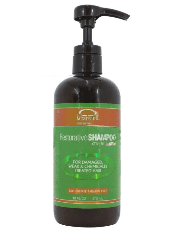 Кератиновый безсульфатный шампунь Restorative Shampoo Xtreme Repair, 473 млБлагодаря находящимся в составе компонентам (кератин, масло Арганы и Жожоба, масло африканской пальмы, протеины пшеницы, экстракты мирты и женьшеня), продукт насыщает волосы питательными веществами, удерживает в них влагу, разглаживает кутикулу и облегчает процесс укладки и выпрямления волос!<br>