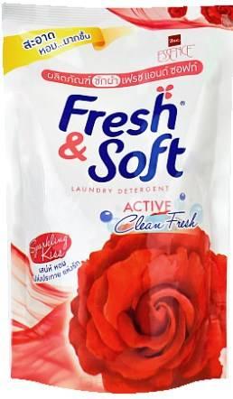 Lion Thailand, Гель для стирки всех типов тканей концентрированный Искристый Поцелуй Fresh&Soft, 400 мл